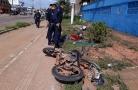 Dupla de assaltantes é presa após colidir em viatura da PM